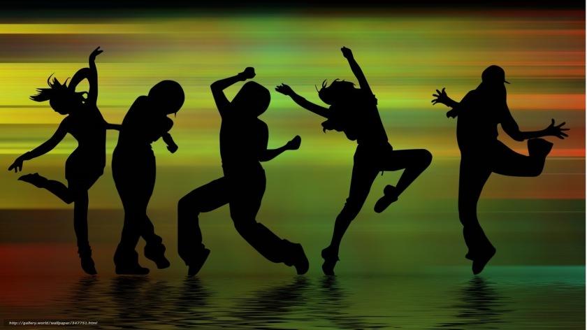 POL Bild Flyer tanzende Menschen